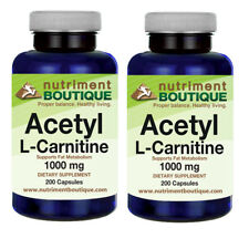 Acetyl L-Carnitine 1000mg 2X200 Caps by Nutriment Boutique