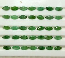10.20 Cts Natural Emerald Marquise Cut 5x2.50 mm Lot Untreated Green Gemstones