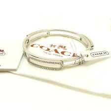 Coach Bangle Bracelet Silver Woman Authentic Used Y2307