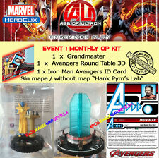 HEROCLIX MARVEL AGE OF ULTRON EVENT 1 OP KIT Grandmaster + Round Table + ID Card