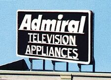 Blair Line HO or N Scale Laser Cut Wooden Admiral Television Billboard Sign1506
