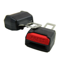 1 Pair Universal Black Safety Seat Belt Buckle Clip Extender Car Alarm Stopper