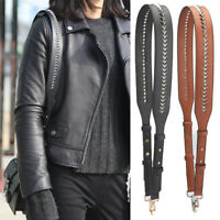 New rivet Stud wide adjustable shoulder strap You for Messenger  women hand bags