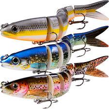 3pcs/set Fishing Lures Swimbait Lifelike Multi Jointed Crankbaits Bait Bass Lure