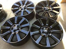 """20"""" NEW BLACK OEM FACTORY MADE IN ITALY RANGE ROVER SPORT FULL SIZE WHEELS."""