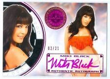 "MIKI BLACK ""PINK AUTOGRAPH CARD #02/21"" BENCHWARMER VEGAS BABY 2014"