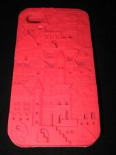 Castle Hard Cover Case for iPhone 4 4s Castles & Stairs Maze Silicone Red  Case