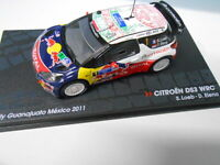 CITROEN DS3 WRC RALLY MEXICO 2011 LOEB EAGLEMOSS IXO 1/43