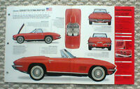 1965/1966/1967 Chevy CORVETTE SPEC SHEET/Brochure: 427