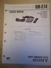 Sony Service Manual~RM-X14 Remote Commander System~Original~Repair