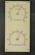 Uralt OVP Hygrometer + Thermometer Station 115 x 230 mm, Wetterstation