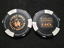"Harley Davidson Poker Chip (110 ANNIVERSARY) ""Fort Hood""Harker Heights TX CLOSED"