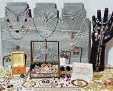 Large Estate Costume Jewelry Lot. Sterling Silver, Gold Filled, Designer, etc.