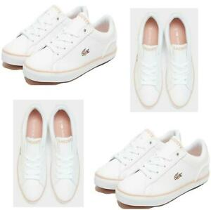 Girls Lacoste Trainers Children's Shoes Sneakers White Sports Trainers