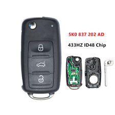 3B Flip Remote Key 5K0 837 202 AD 433HZ ID48 Chip For VW Beetle GOLF POLO CADDY