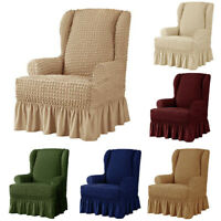 Elastic Soft Recliner Chair Cover Wing Back Arm Chair All Inclusive Slipcover