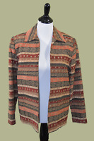 Alfred Dunner open front jacket blazer with beading - Size 8
