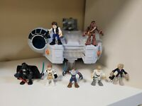 Star Wars Galactic Heroes Hasbro  Millennium Falcon Playset with 7 Figures