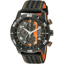 Citizen Eco-Drive Men's Chronograph Tachymeter Calendar 45mm Watch CA0467-11H
