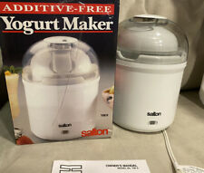Salton Yogurt Maker YM9 (ADDITIVE-FREE)  1 Quart Excellent Condition. Used Once