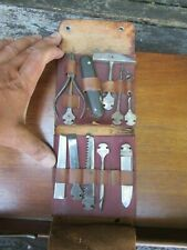 Vintage Bonsa Corkscrew Multi Tool in Leather Pouch VGC
