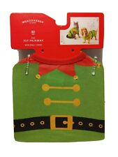Wondershop XS Small Pet Dog Cat Pajamas Christmas Holiday Elf Clothing up 10lbs