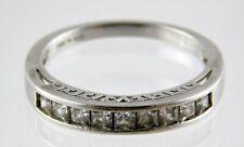 IBB CN 925 Sterling Silver Cubic Zirconia Channel Set Ring Pierced Motif Sz 7.75