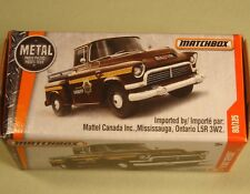 """Matchbox boxed '57 GMC Stepside brown Boone County Sheriff """"Power Grabs"""" 2017"""