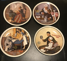 Norman Rockwell Collector Plates Lot Of 4 By Knowles Mothers Day