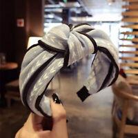 Women Girl Elastic Turban Headband Floral Hair Bands Bandanas Hairwear Accessory
