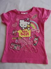 Jo6588  T-SHIRT FILLE m.c. fantaisie °°° HELLO KITTY TV MANIA °°° 5 ANS