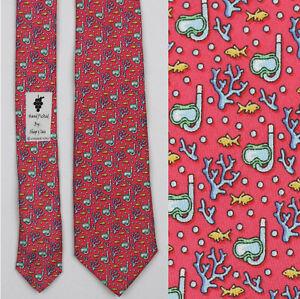 Vineyard Vines New Scuba Tie for Boys Dark Pink 51.5in 3.0in silk