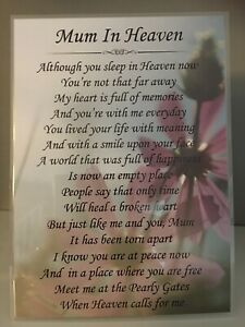 MUM IN HEAVEN 7X5 GRAVE CARD*LAMINATED*NEW*