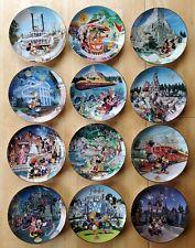 Disney Park 40th Anniversary Bradford Exchange Collector Plates.