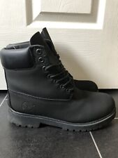 Timberland Mens 6 inch Black Classic Waterproof boots Uk Size 8.5 M *WOW*