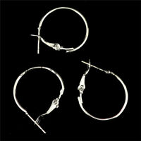 150pcs DIY Jewelry Silver Circle Earring Findings Hook Accessories