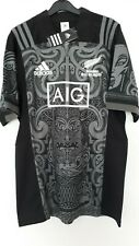 RUGBY NEW ZEALAND( ALL BLACKS ) BLACK MAORI DESIGN KIT SUPPORTER SHIRT BNWT