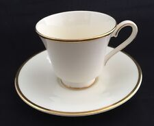 """Royal Doulton """"Heather"""" Cup & Saucer In Cream & Gold #H.5089 X 4"""