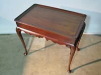 Vintage Mahogany Henkel-Harris Virginia Galleries Queen Anne Style Tea Table