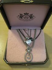Juicy Couture Multi Strand Pave Bow Necklace - Brand New With Box