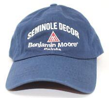 Benjamin Moore Paints Seminole Decore Adjustable back Baseball Cap Dad Hat New