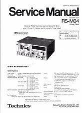 Technics Service Manual für RS-M 04