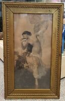 """Circa 1885 After William-Adolphe Bouguereau - """"L'Aurore"""" Engraving (France)"""