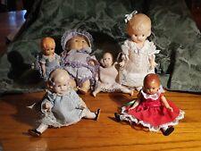 Lot Of 6 Vintage Small Dolls-Knickernocker,  Sunshine Kid, Patsyette & More