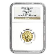 1995 China 1/20 oz Gold Panda Small Date MS-69 NGC - SKU #79129