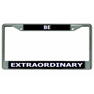 be extraordinary chrome license plate frame usa made