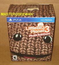 LittleBigPlanet 3 Plush Edition New Sealed + DLC Pack PlayStation 4 PS4