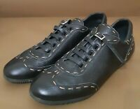 FENDI Black Leather Sneakers size 39,5 US 9