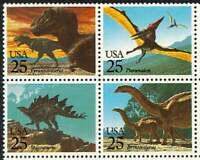 Dinosaurs Prehistoric Animals USA #2422 - 2425 Mint NH Complete Setenant Block