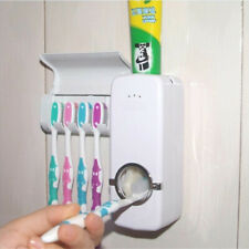 1 Set Tooth Brush Holder Automatic Toothpaste Dispenser + 5 Toothbrush Holder
